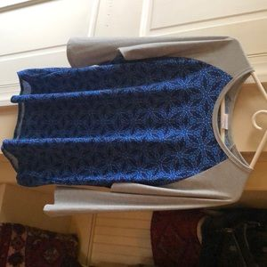 Lularoe 2xl tunic top blue medallion nwot shirt